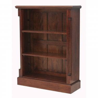 La Roque Low Natural Mahogany Bookcase