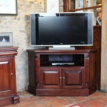 La Roque Mahogany Corner TV Unit
