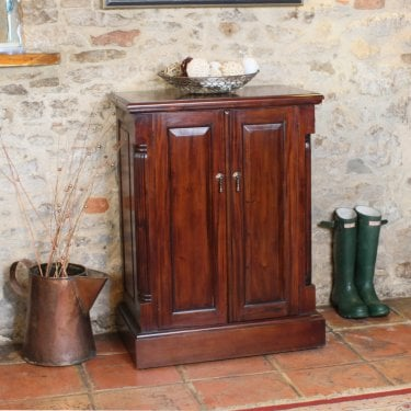 La Roque Small Mahogany Shoe Cabinet