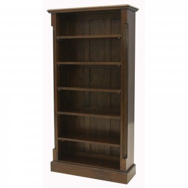 La Roque Tall Natural Mahogany Bookcase