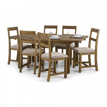 Langford Dining Set Of 6, Pine