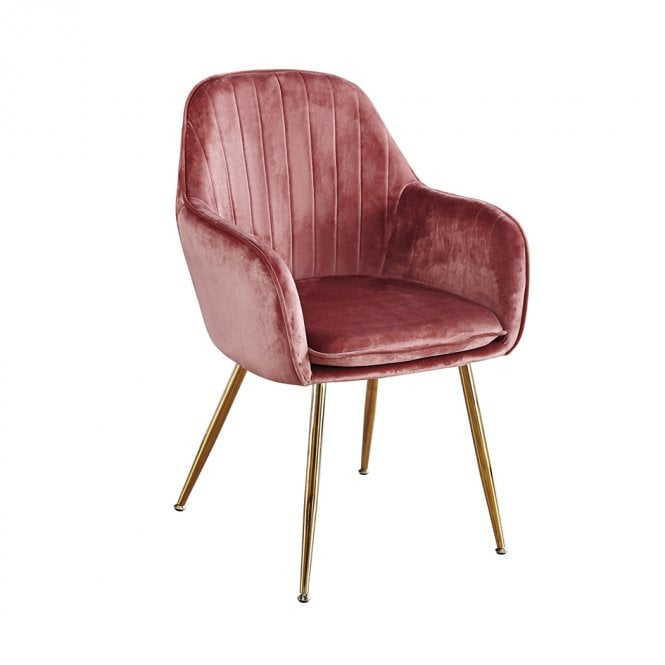 Lara Dining Chair Set Of 2, Dusty Pink
