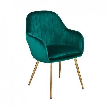 Lara Forest Green Pair of Dining Chairs