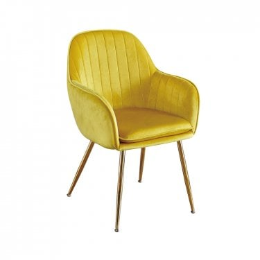 Lara Yellow Ochre Dining Chairs