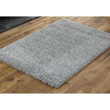 Large Sunshine Middle Grey Shaggy Rug 170x120cm (70071-099-120170)