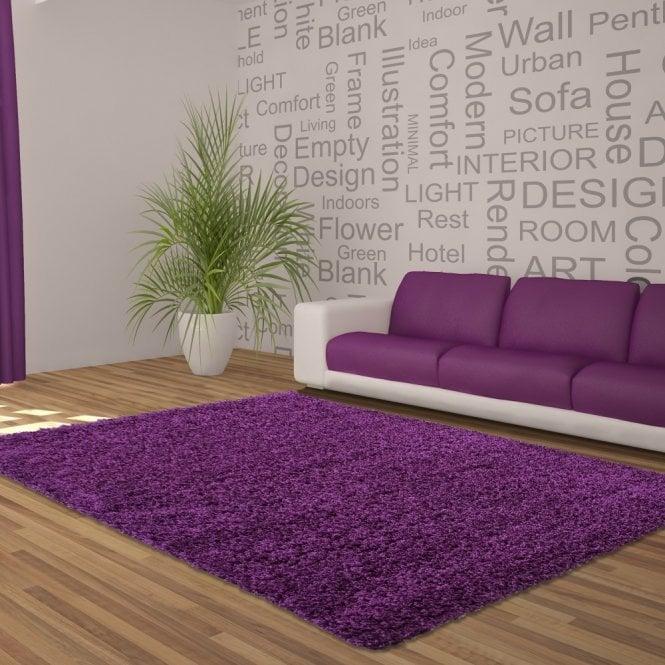 Large Sunshine Shaggy Violet Rug 170x120cm (70071-020-120170)
