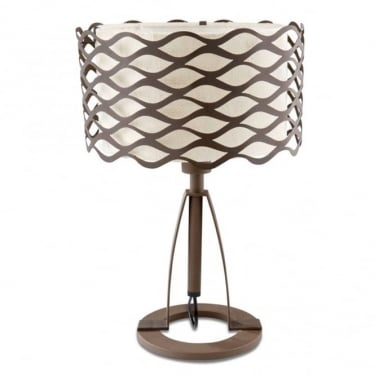 LEDS C4 Decorative Alsacia Steel Oxide Brown Table Lamp (10-4341-Z6-20)
