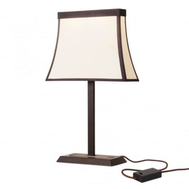 LEDS C4 Decorative Fancy Steel Dark Brown Table Lamp (10-5425-CI-20)