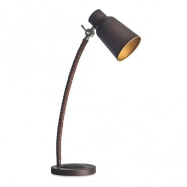 LEDS C4 Decorative Funk Steel Dark Brown Table Lamp (10-4755-CI-23)