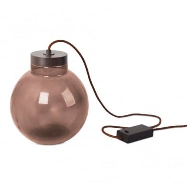 LEDS C4 Decorative Raw Brown & Dark Brown Table Lamp (10-5450-CI-18)