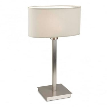 LEDS C4 Decorative Torino Satin Nickel Table Lamp (10-4695-81-82)