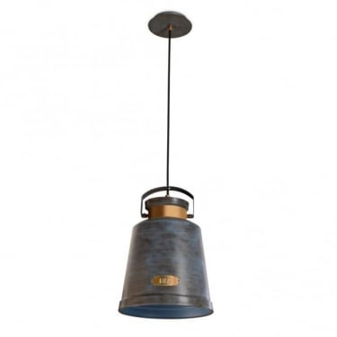 LEDS C4 Decorative Vintage Antique Grey & Gold Pendant Light (00-0253-S4-CC)