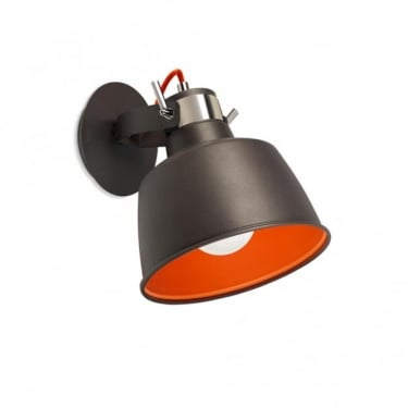 LEDS C4 Decorative Vintage Urban Grey & Orange Pendant Light (00-0240-21-Z5)