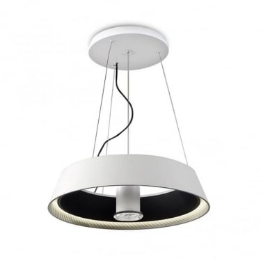 LEDS C4 Grok Ringofire Steel Matt White Pendant Light (00-0053-05-BW)