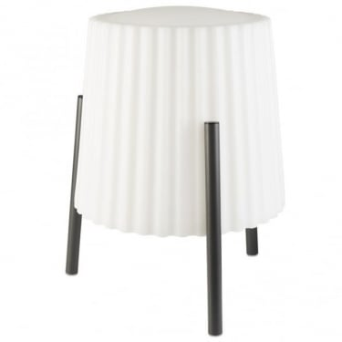 LEDS C4 Outdoor Barcino High Purity Aluminium Urban Grey Table Lamp (55-9880-Z5-M1)