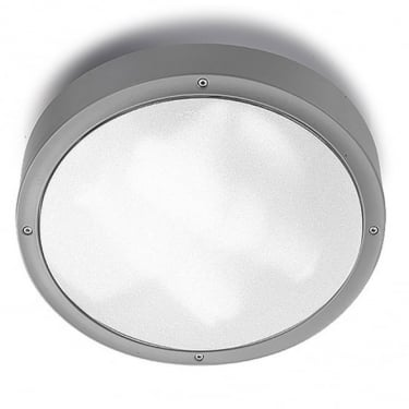 LEDS C4 Outdoor Basic Abs Grey Ceiling Light (15-9542-34-M3)