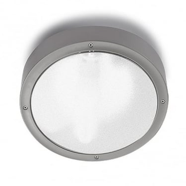 LEDS C4 Outdoor Basic Polycarbonate + Abs Grey Ceiling Light (15-9491-34-M3)