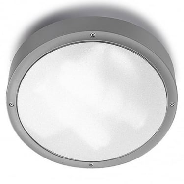 LEDS C4 Outdoor Basic Polycarbonate + Abs Grey Ceiling Light (15-9493-34-M3)