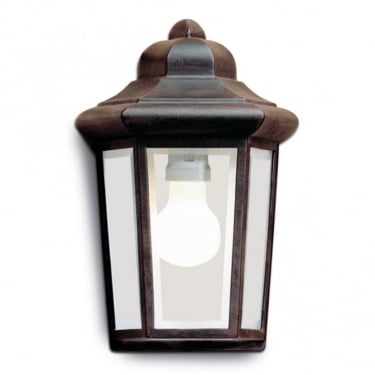 LEDS C4 Outdoor Perseo Injected Aluminium Oxide Brown Wall Light (05-8762-18-37)