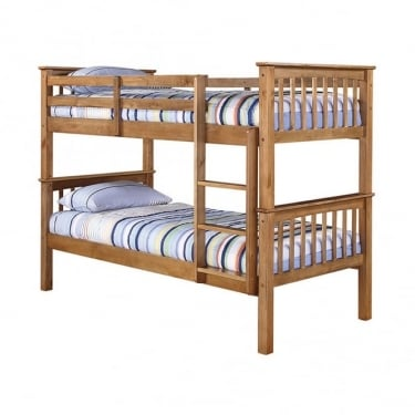 Leo Antique Waxed Pine 3'0 Bunk Bed