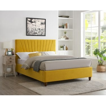 Lexington Double Platform Bed, Mustard