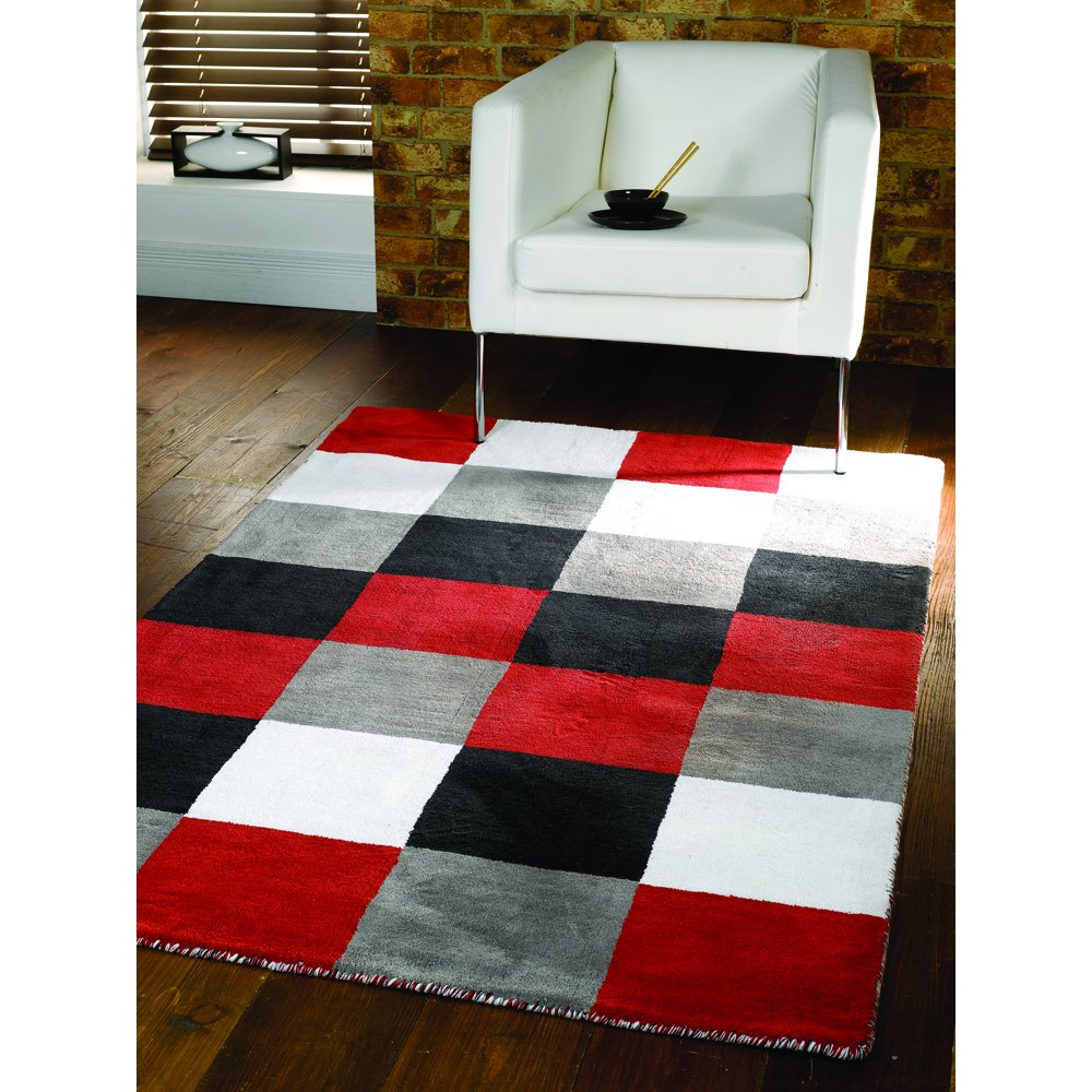Red And White Checkered Rug: Liberty Glade Check Mix Rug