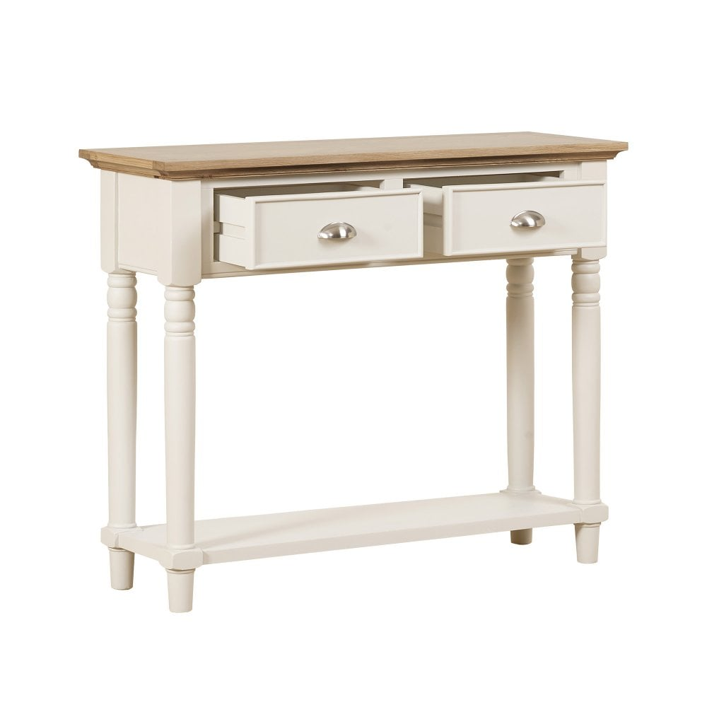 best authentic 61711 e5249 Lily Cashew Cream Painted 2 Drawer Console Table
