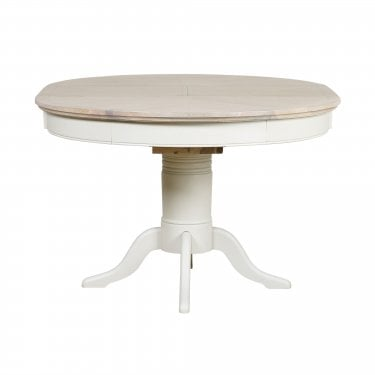 Lily Cashew Cream Painted Round Extending Table
