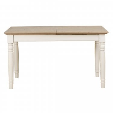 Lily Cashew Cream Painted Small Extending Rectangular Table