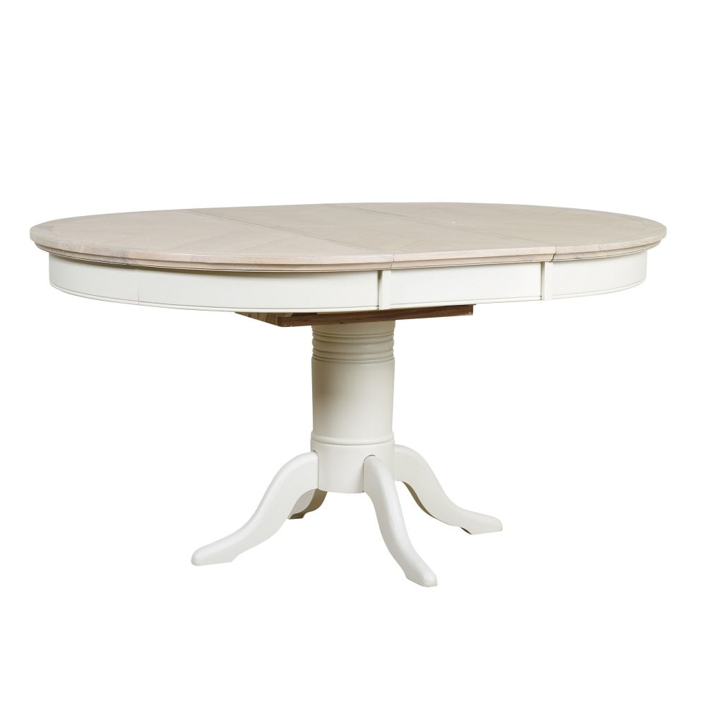 Mark Webster Lily Round Extending Dining Table Grey Leader Furniture