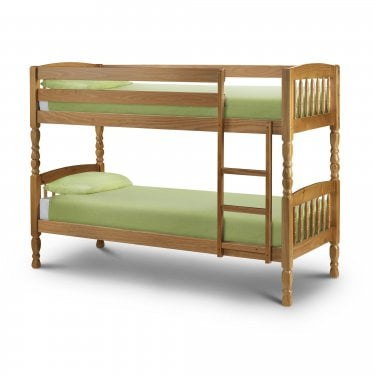 Lincoln Antique Pine Small Single Bunk Bed