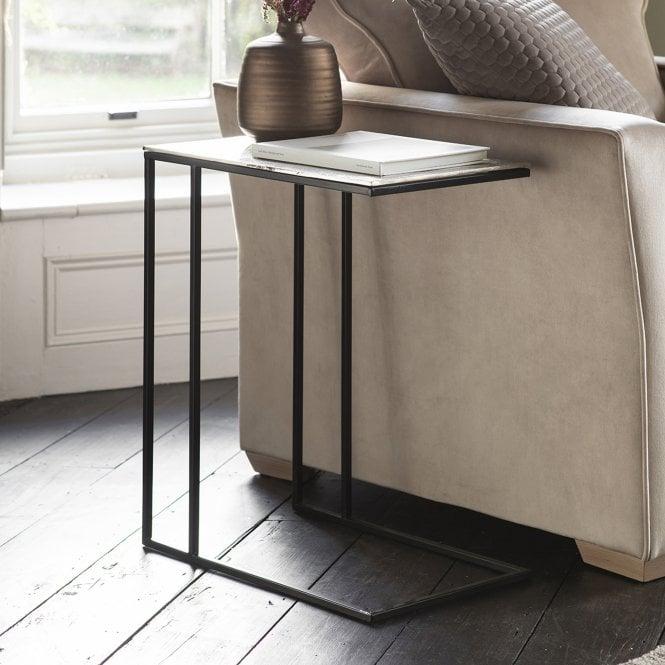 Linton Rectangular Side Table, Silver
