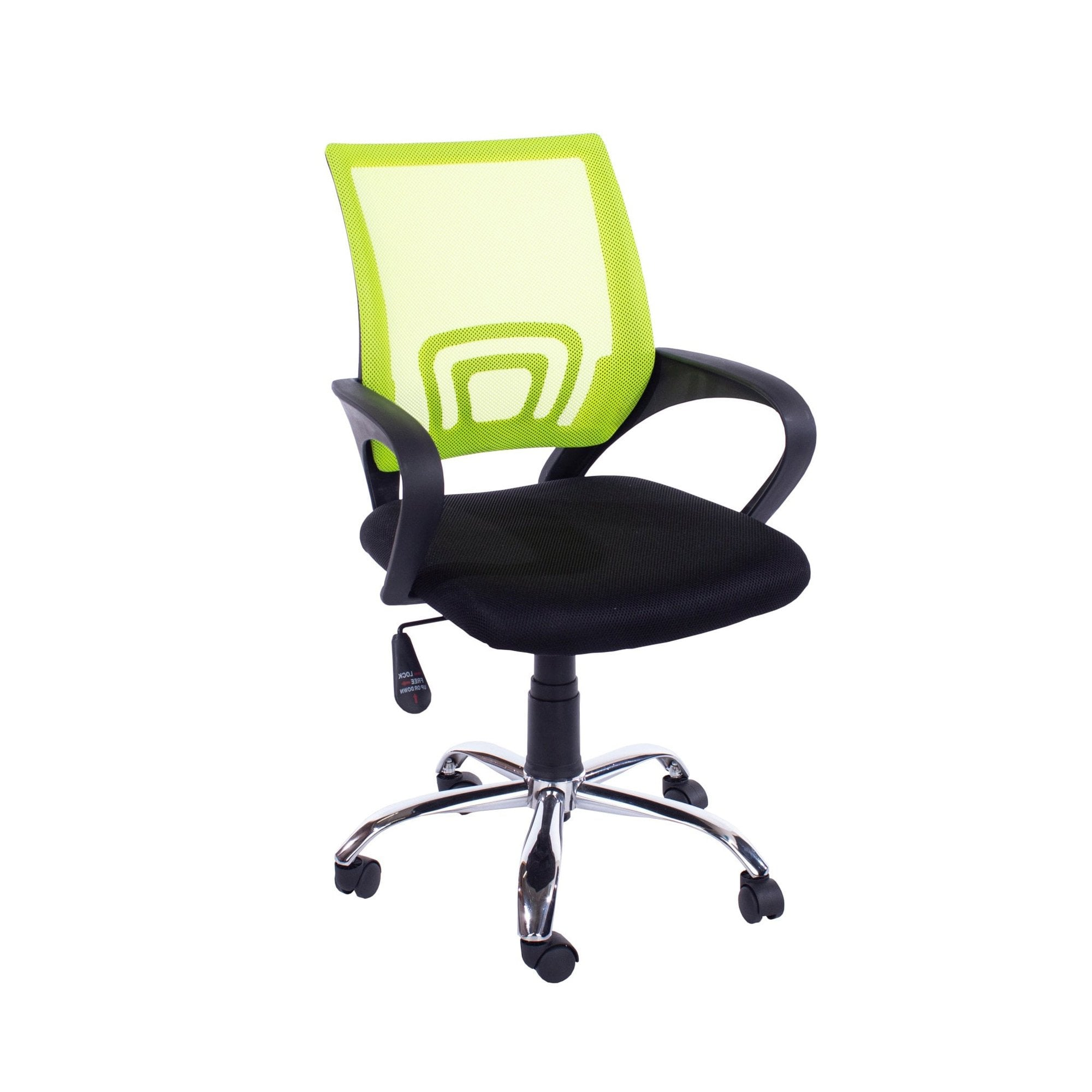 Picture of: Core Products Loft Home Office Chair Set Of 2 Black Lime Green Polished Chrome Leader Furniture