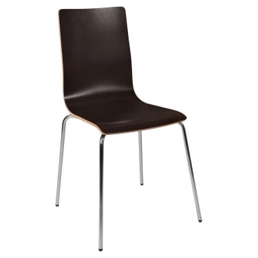 Loft Wenge Bistro Chair 4-Pack with Chrome Frame