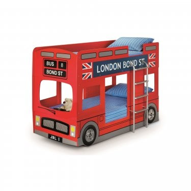 London Red High Gloss Single Bunk Bed