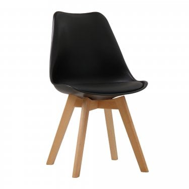 Louvre Black Dining Chair Pair