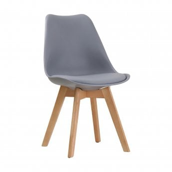 Louvre Dining Chair Set Of 2, Grey