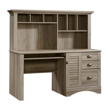 Louvre Salt Oak Hutch Desk