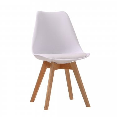 Louvre White Dining Chair Pair