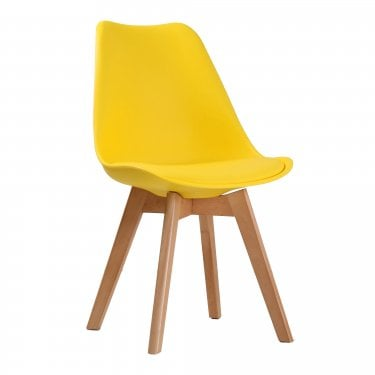 Louvre Yellow Dining Chair Pair