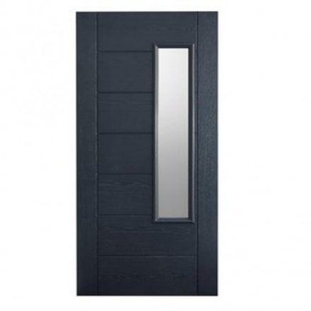 LPD Doors External Grey GRP Newbury Door With Double Frosted Glass ...  sc 1 st  Leader Stores & Newbury LPD Doors