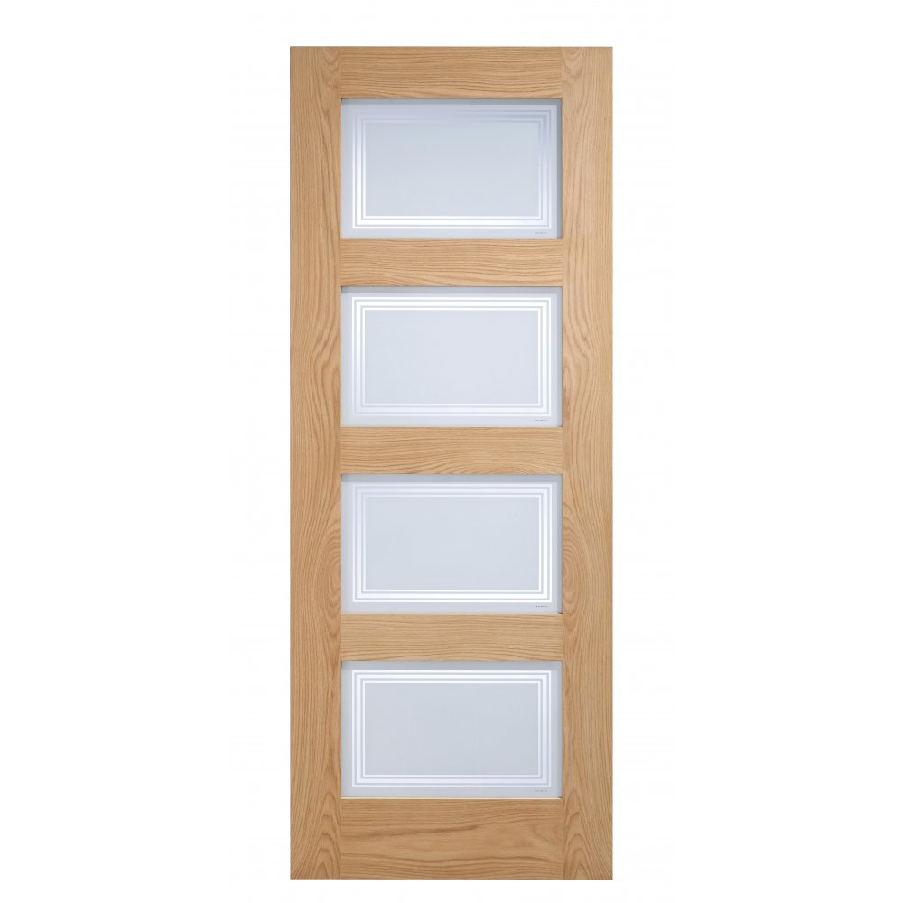 leader stores internal oak contemporary 4 panel door