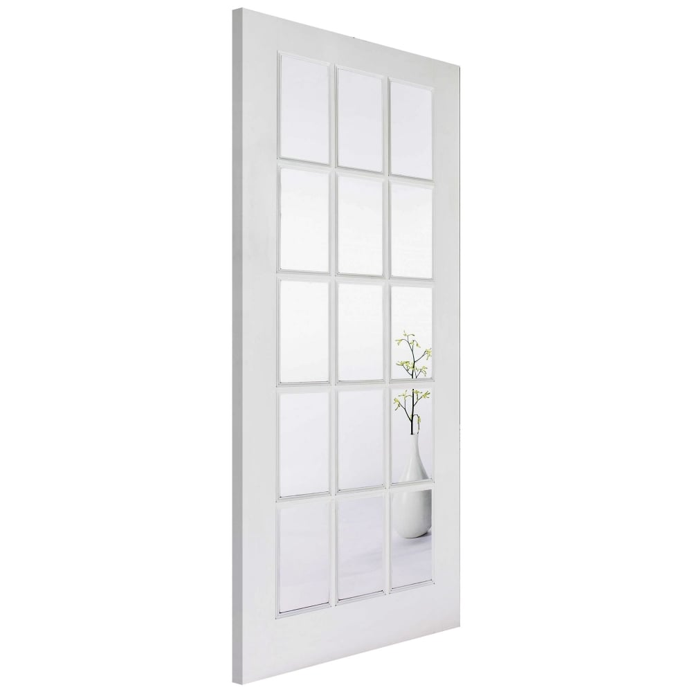 Sa Clear Glass White Door At Leader Stores