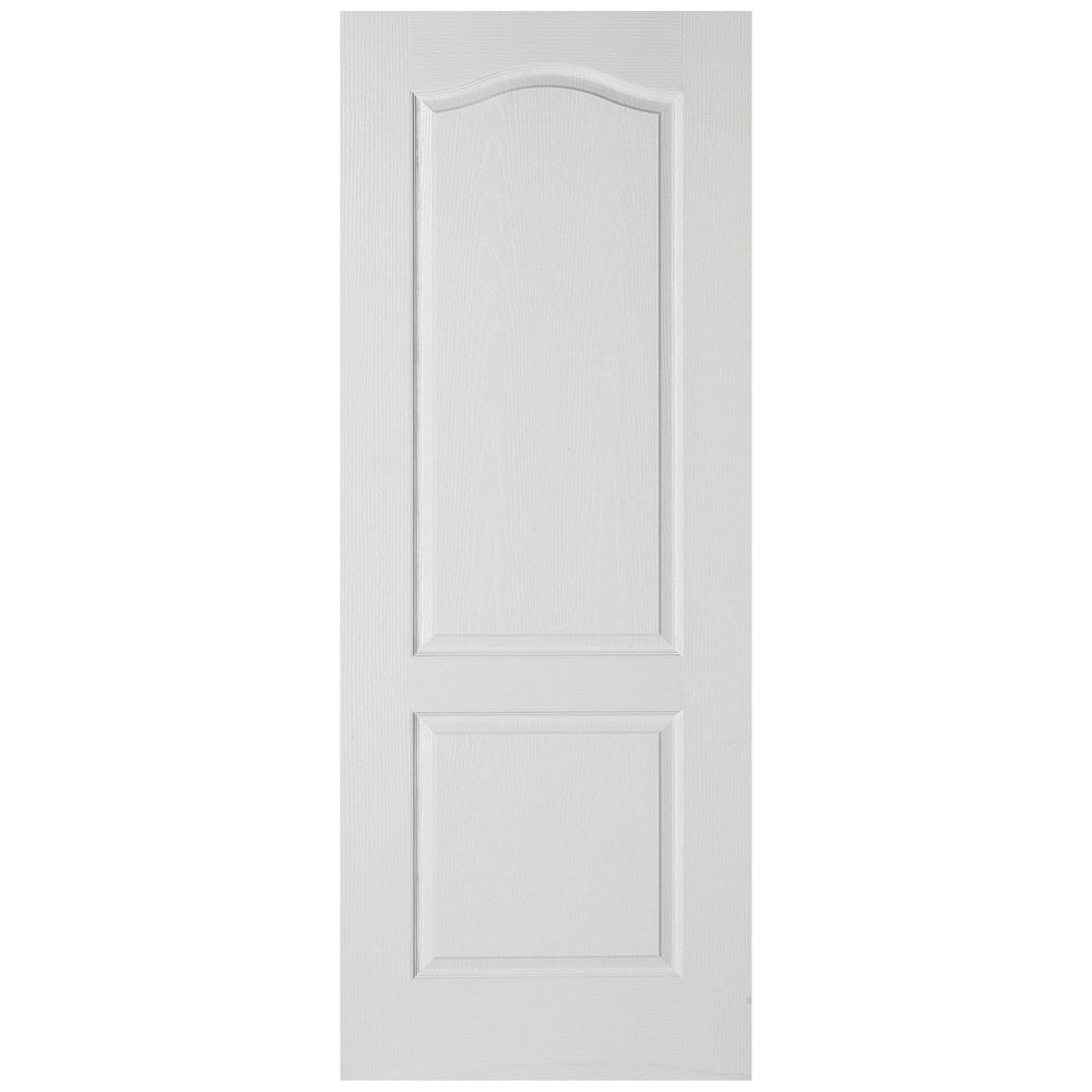Classical panelled white door at leader stores for Moulded panel doors