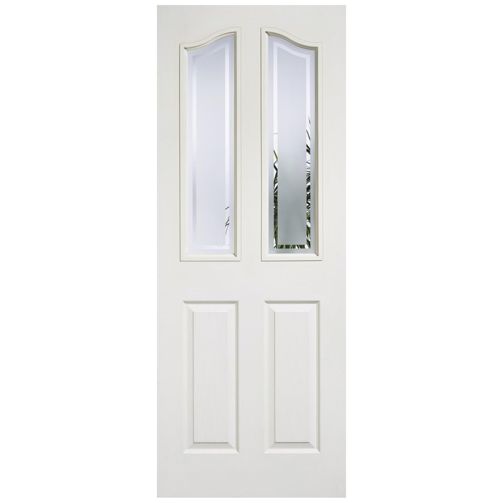 Lpd mayfair white moulded frosted glass internal door - White doors with glass internal ...