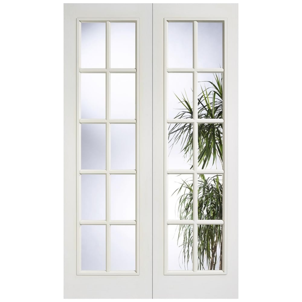 Lpd doors internal white moulded sa 10l pair door at - White doors with glass internal ...