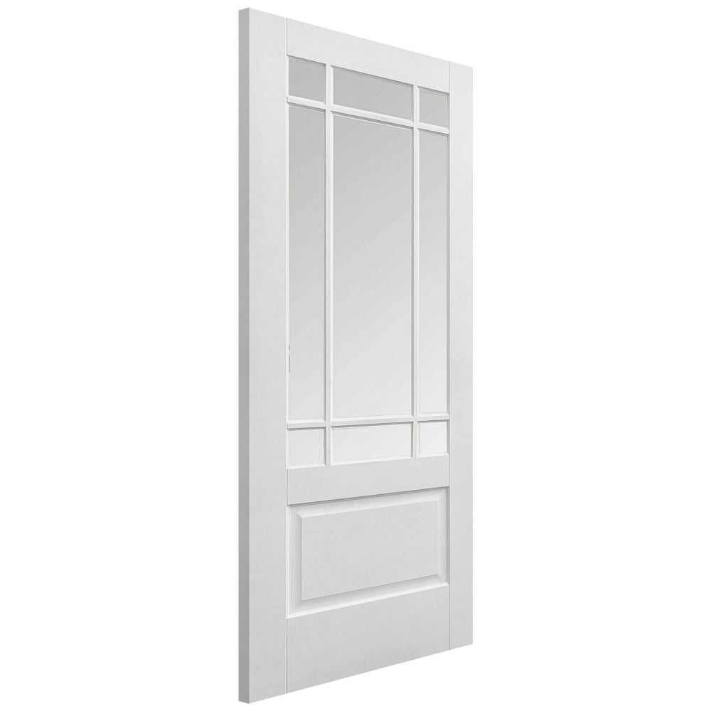 Lpd downham white primed clear bevelled glass internal - White doors with glass internal ...