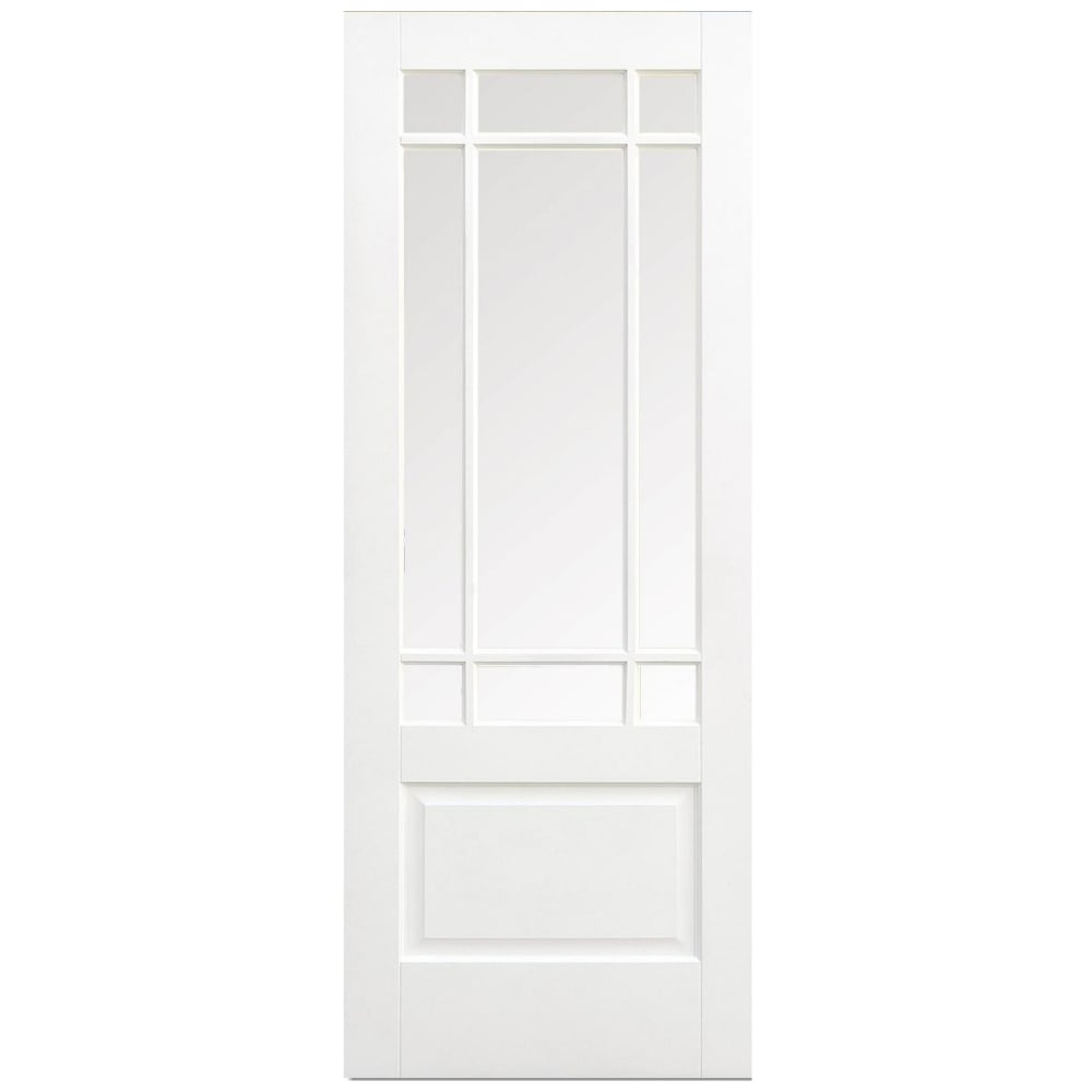 Downham clear bevelled glass white door at leader stores - White doors with glass internal ...