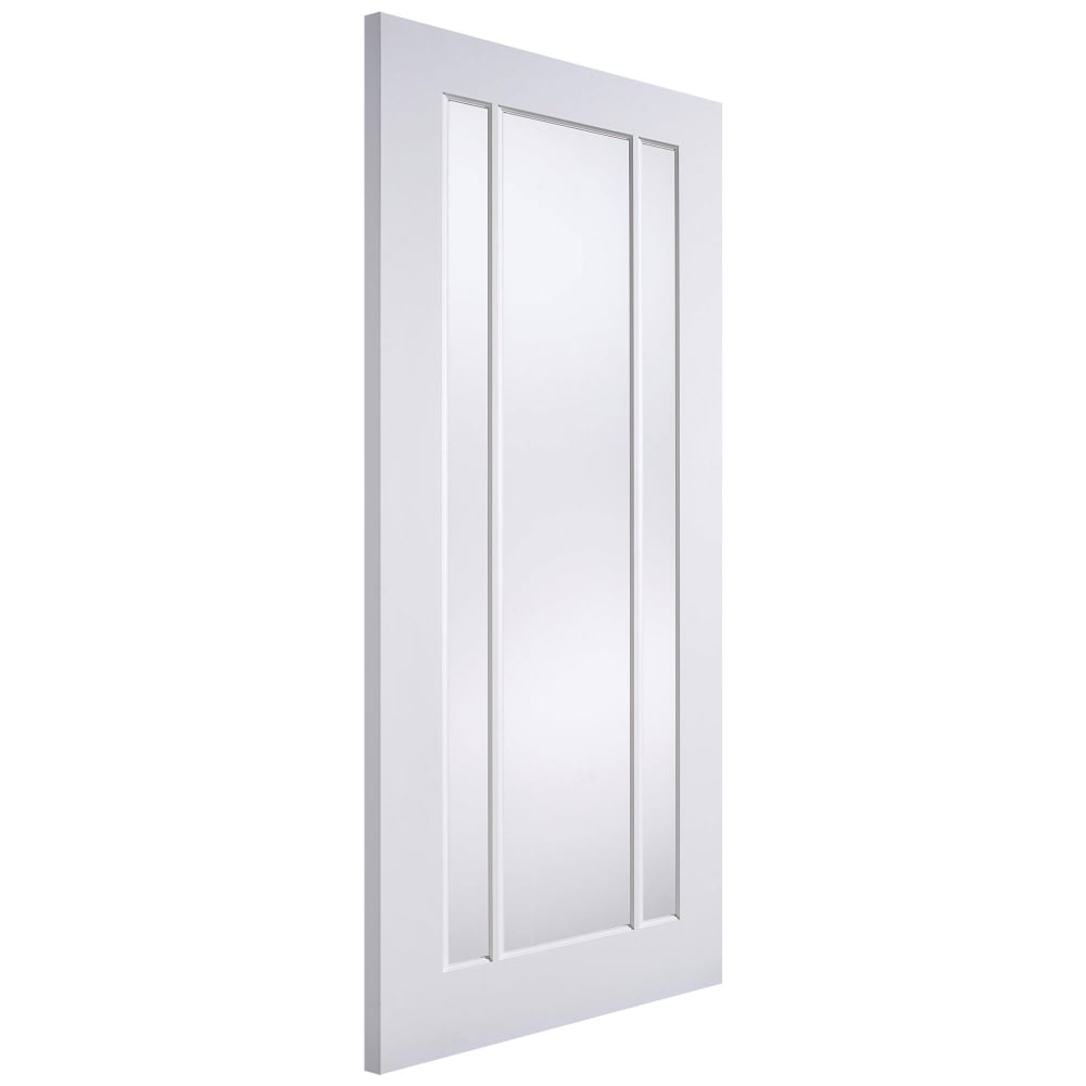 Lpd lincoln white primed clear glass internal door - White doors with glass internal ...