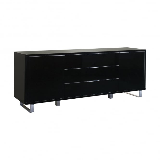 LPD Furniture Accent Black High Gloss Sideboard